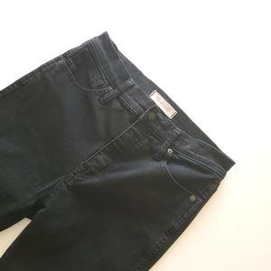 "Madewell 10"" high rise skinny, solid black"